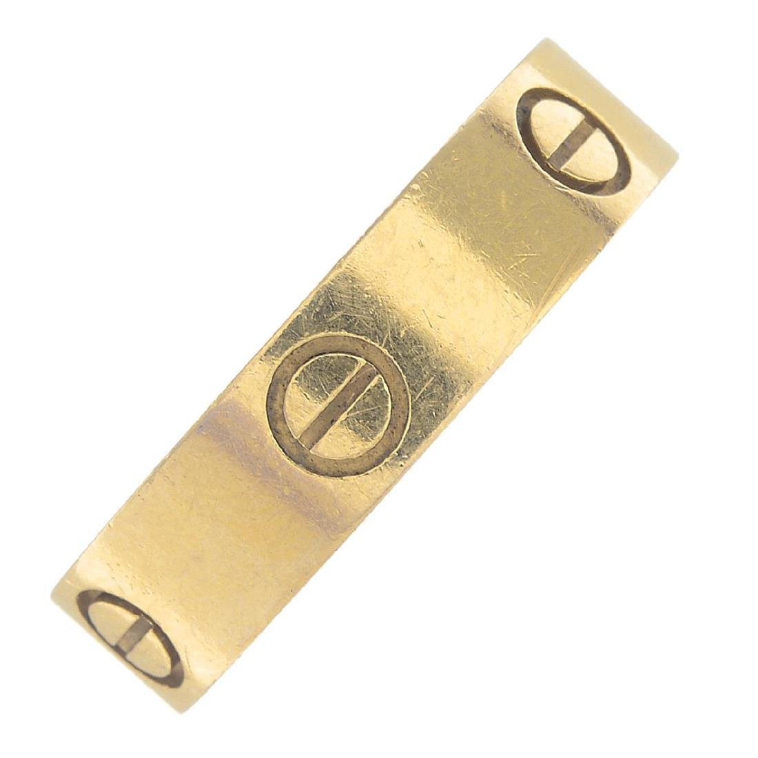 CARTIER - an 18ct gold 'Love' ring. Designed as a