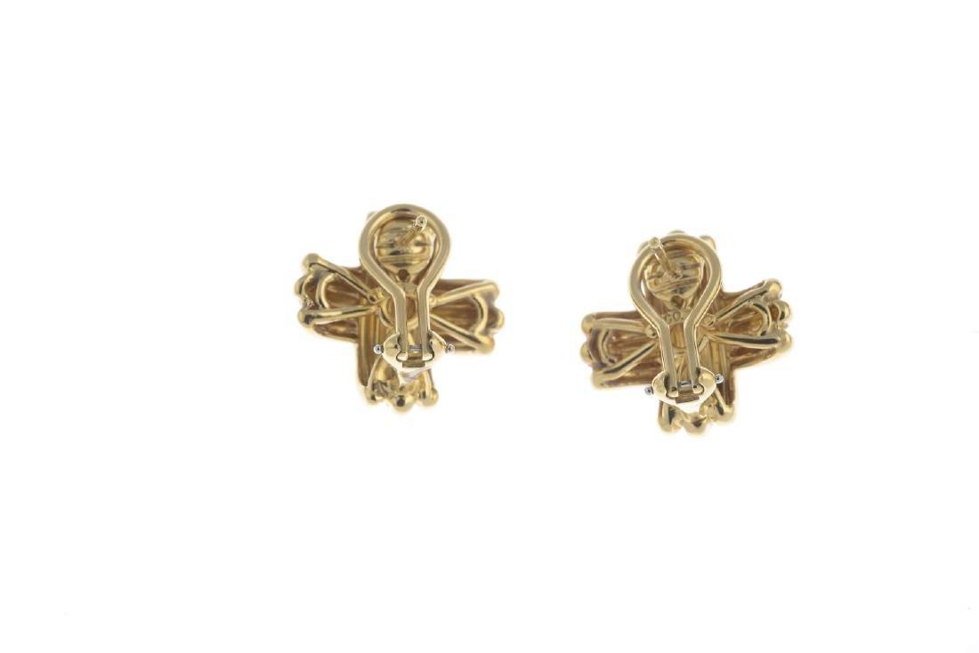 TIFFANY & Co. - a pair of cross earrings. Each designed - 2
