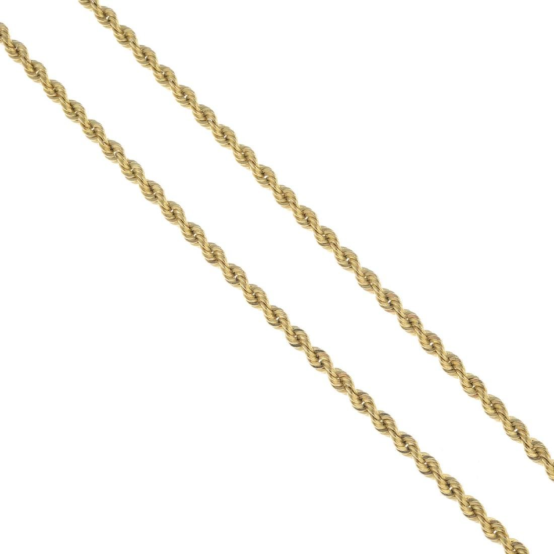 TIFFANY & CO. - a necklace. Designed as an interwoven,
