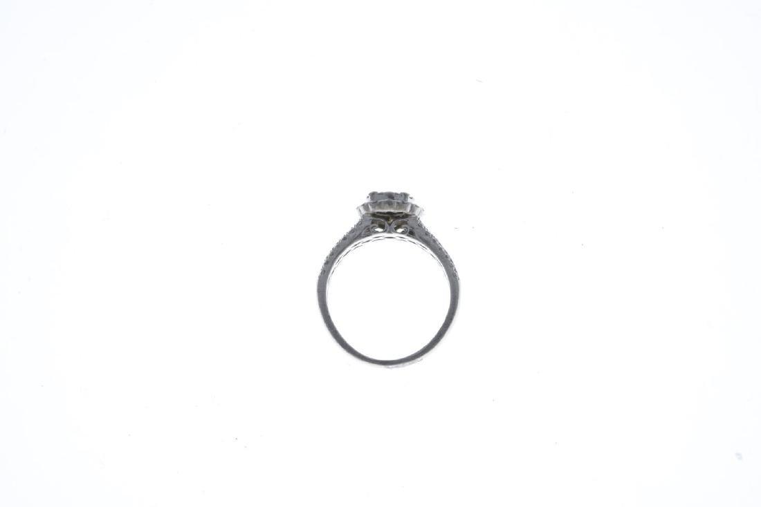 A platinum diamond dress ring. Designed as a - 2