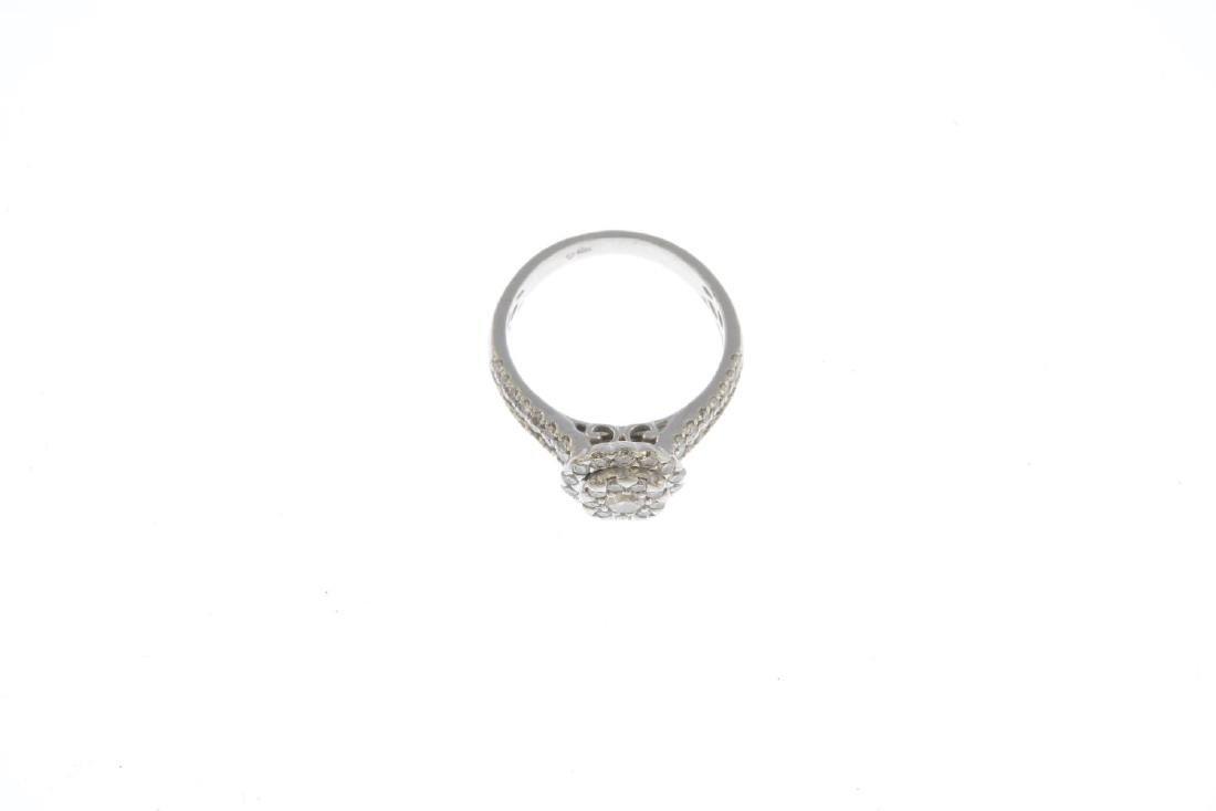 A platinum diamond dress ring. Designed as a - 3