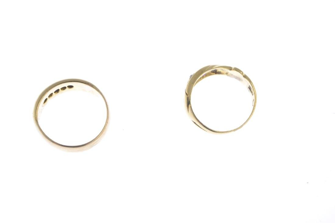 Two diamond and gem-set rings. To include a - 3