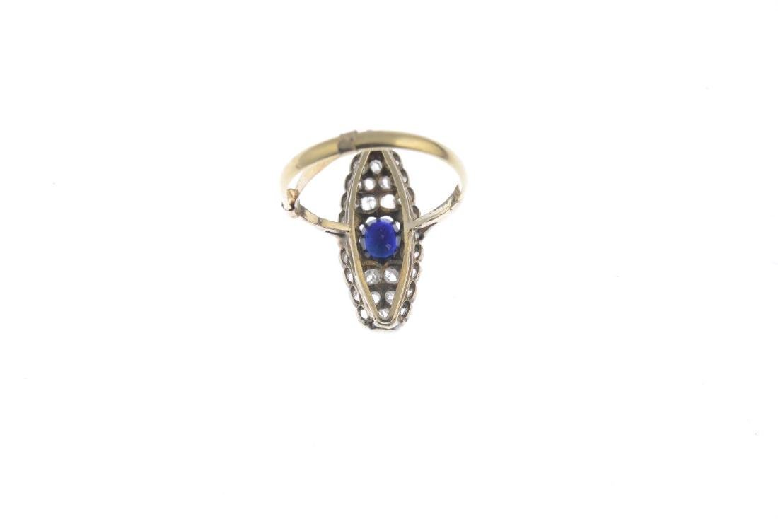 (22176) A diamond and sapphire dress ring. The - 3