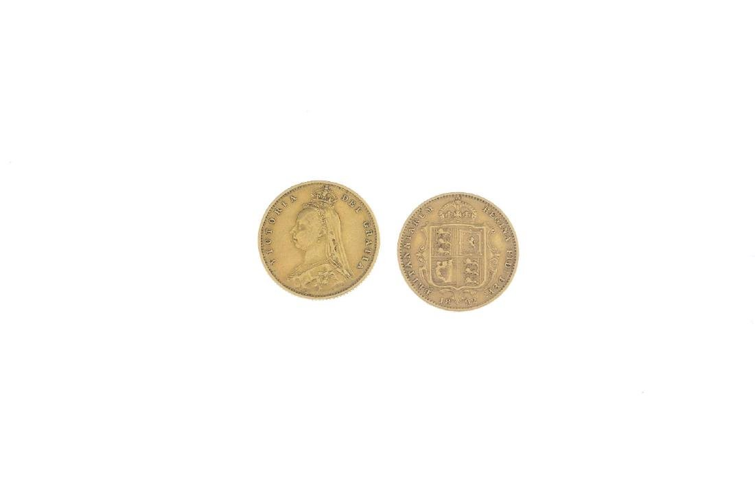 (22479) Two half sovereign coins. Dated 1887 and 1892. - 2