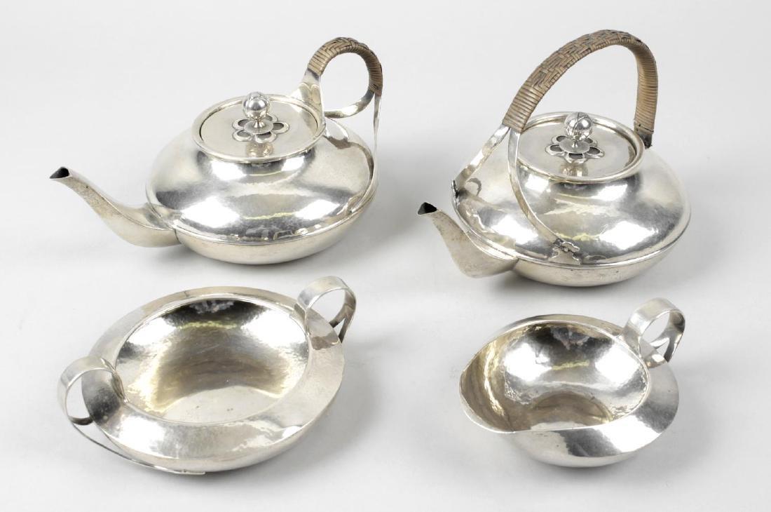 A Liberty & Co Cymric silver part tea service