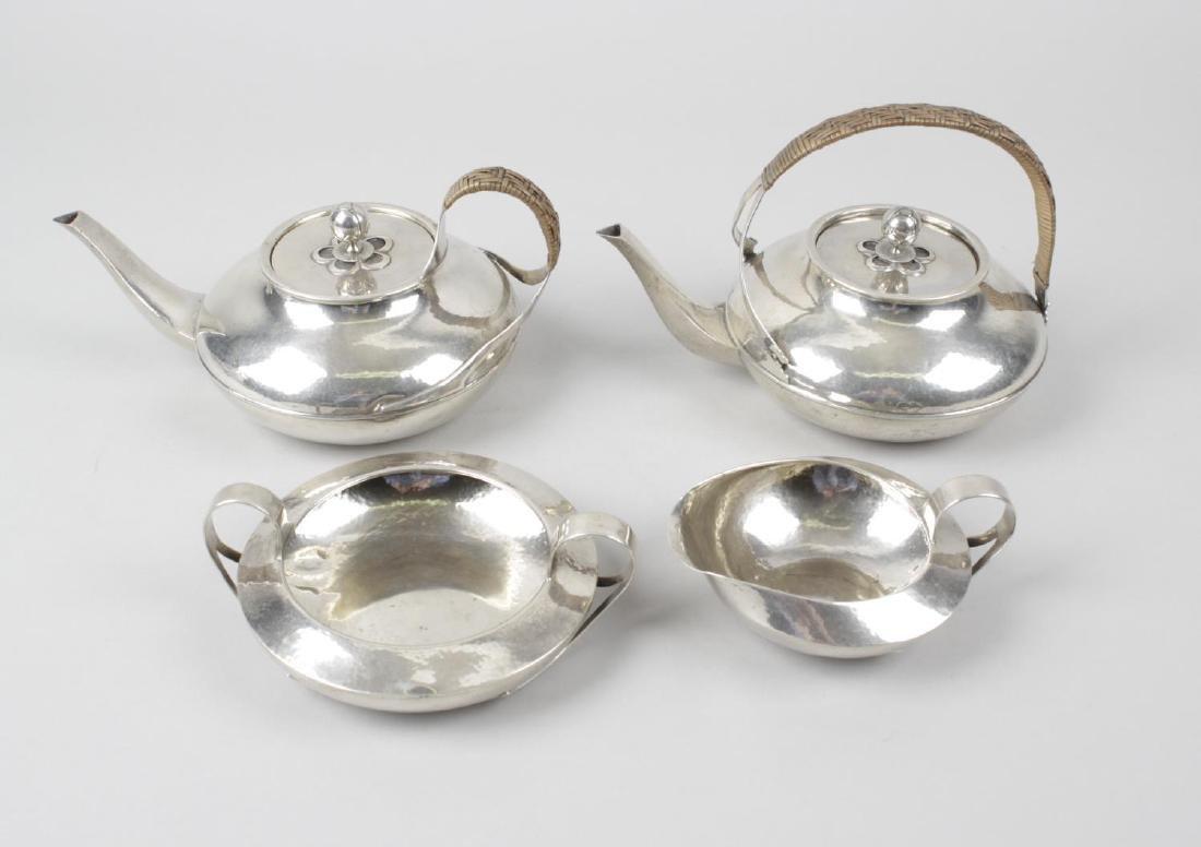 A Liberty & Co Cymric silver part tea service - 3