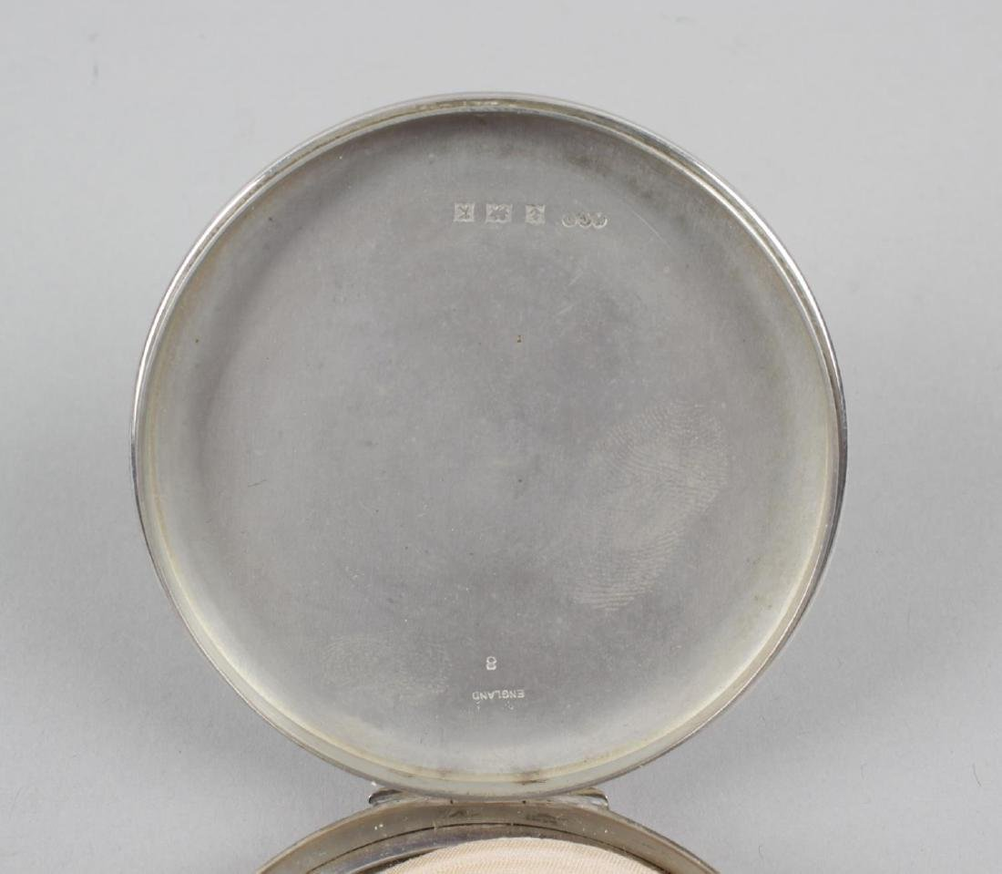 A mid-twentieth century silver circular compact, engine - 2