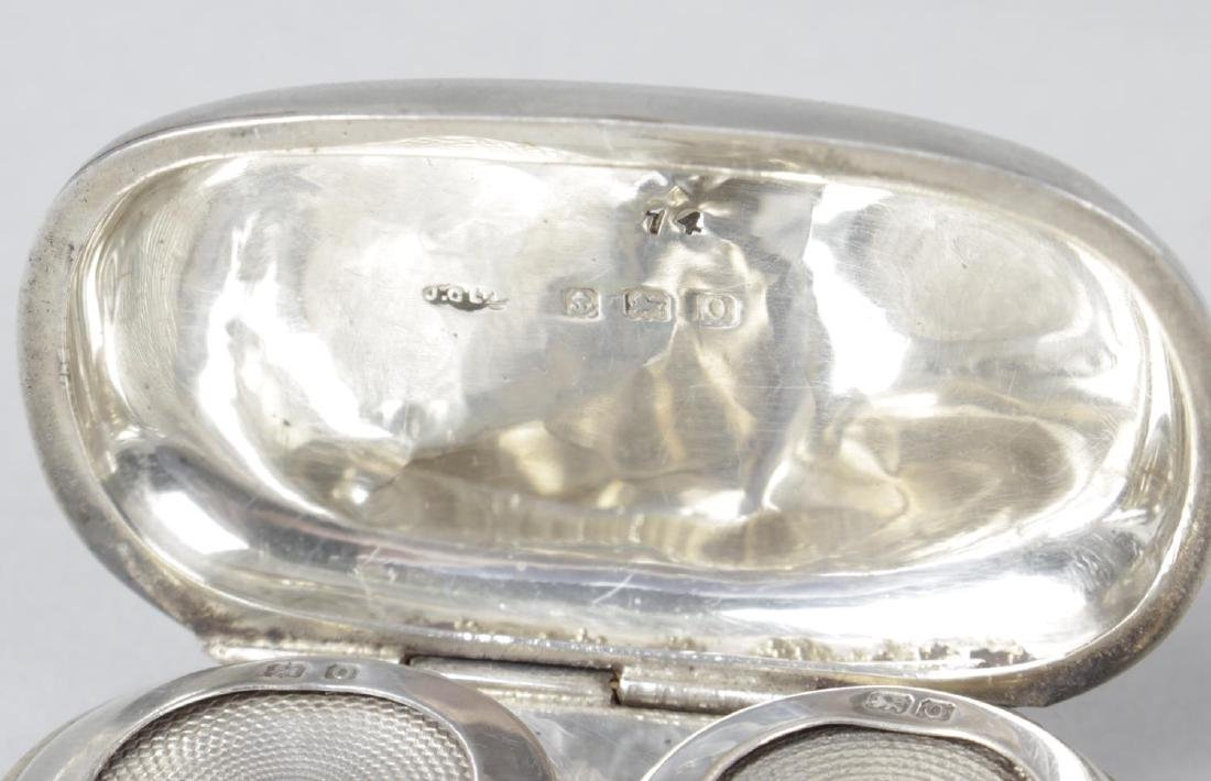 A silver double sovereign case for a full and a half - 3