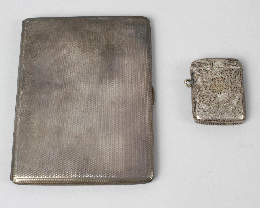 A mid-twentieth century silver cigarette case, of