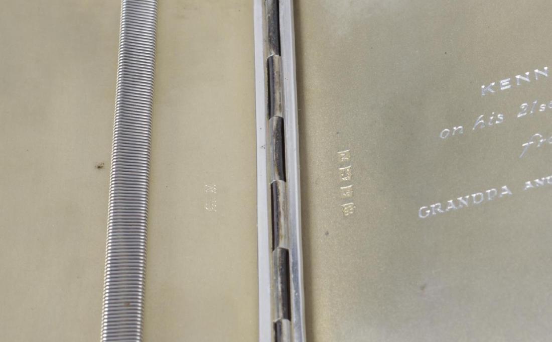 A mid-twentieth century silver cigarette case, of - 2