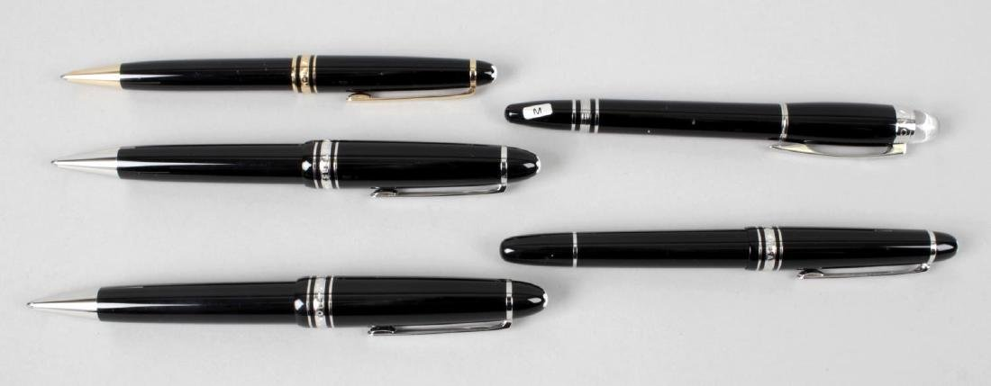 A group of nine Montblanc pens, comprising a