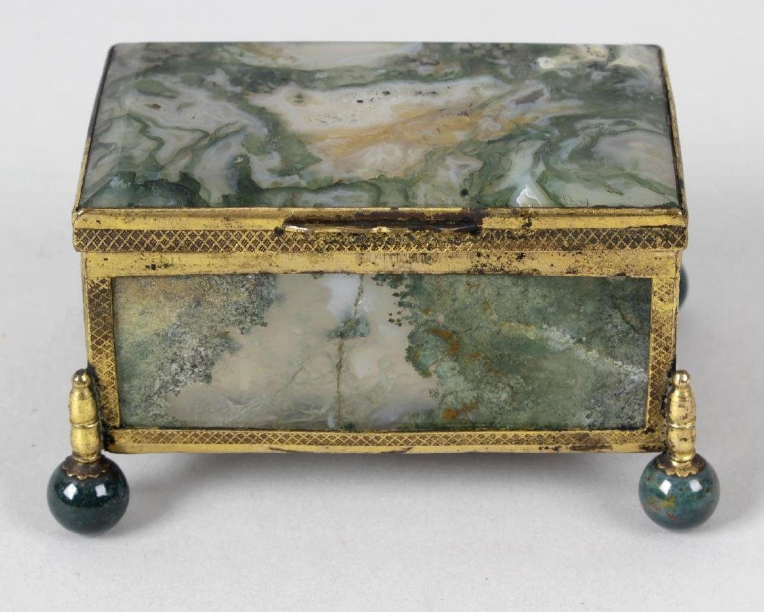 A 19th century gilt metal mounted and moss agate