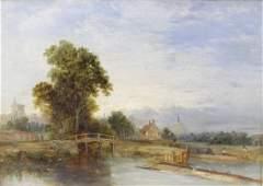 J. B. Pyne (1800-1870), an oil painting on canvas,