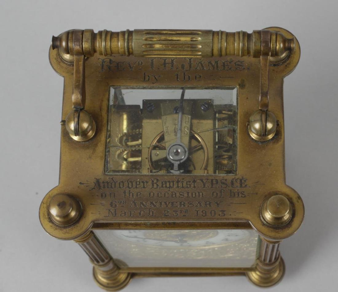 An early 20th century brass cased carriage clock, the - 2