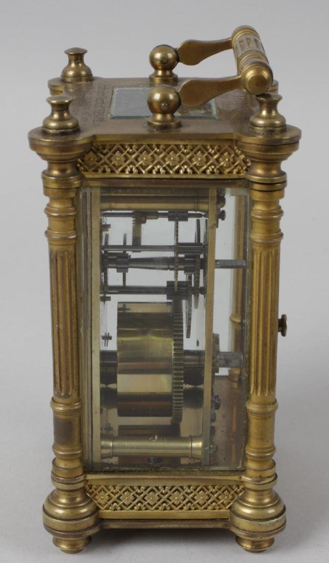 An early 20th century brass cased carriage clock, the - 3