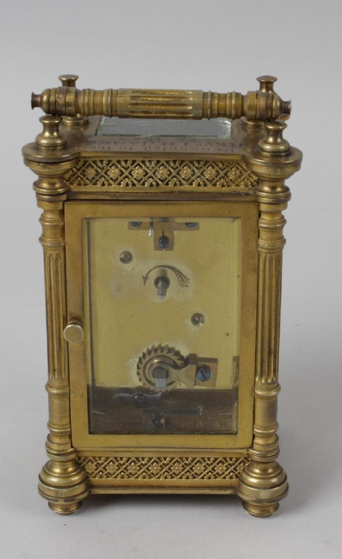 An early 20th century brass cased carriage clock, the - 4
