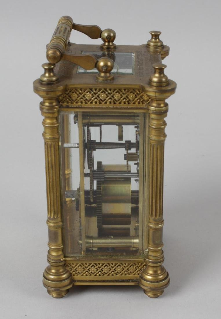 An early 20th century brass cased carriage clock, the - 5