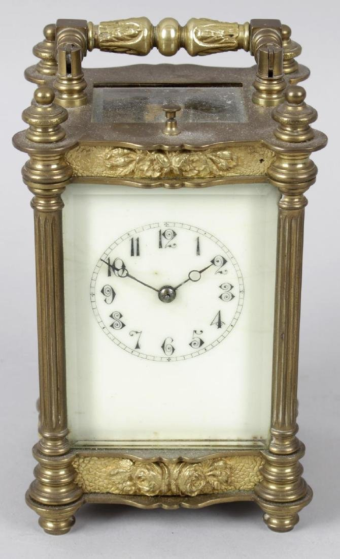 An early 20th century repeater carriage clock, the