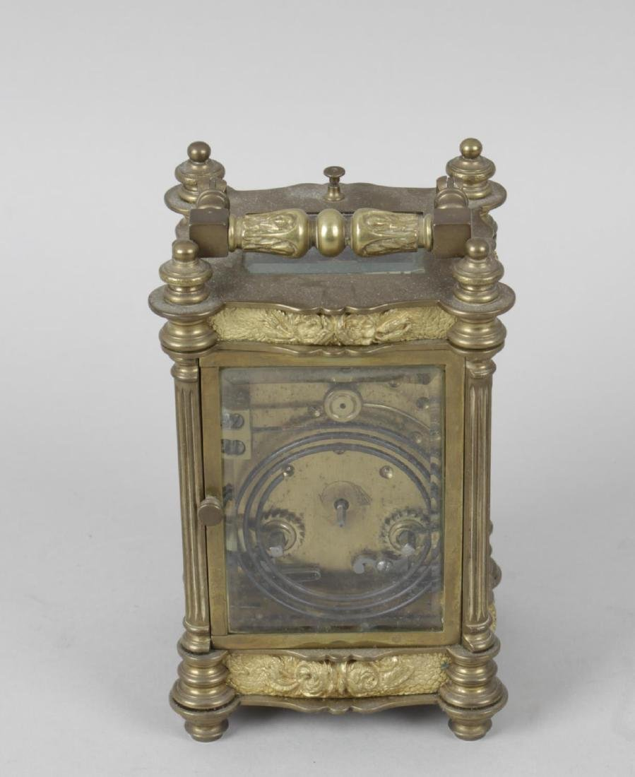 An early 20th century repeater carriage clock, the - 3