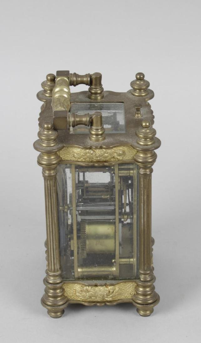 An early 20th century repeater carriage clock, the - 4