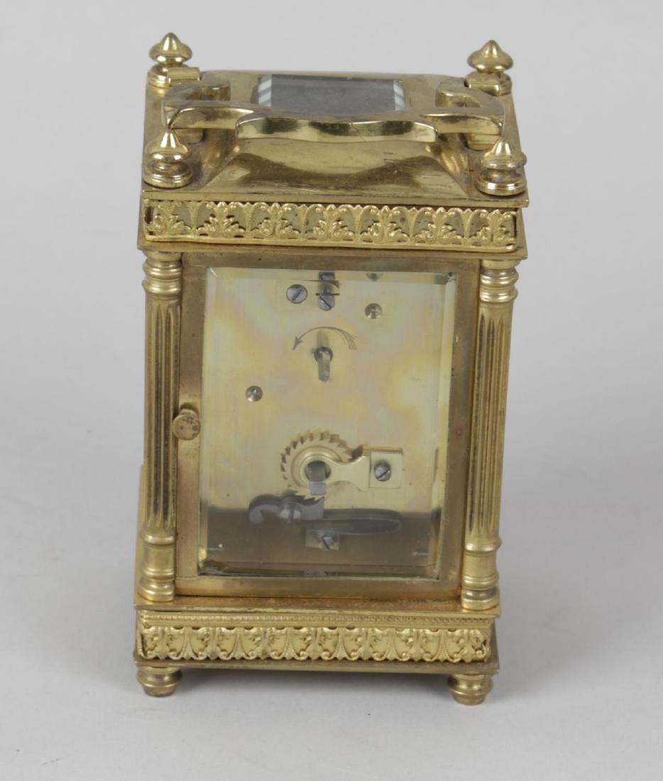 An early 20th century gilt metal cased carriage clock, - 3