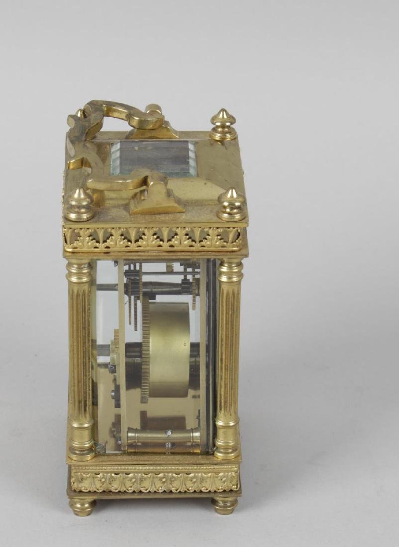 An early 20th century gilt metal cased carriage clock, - 4