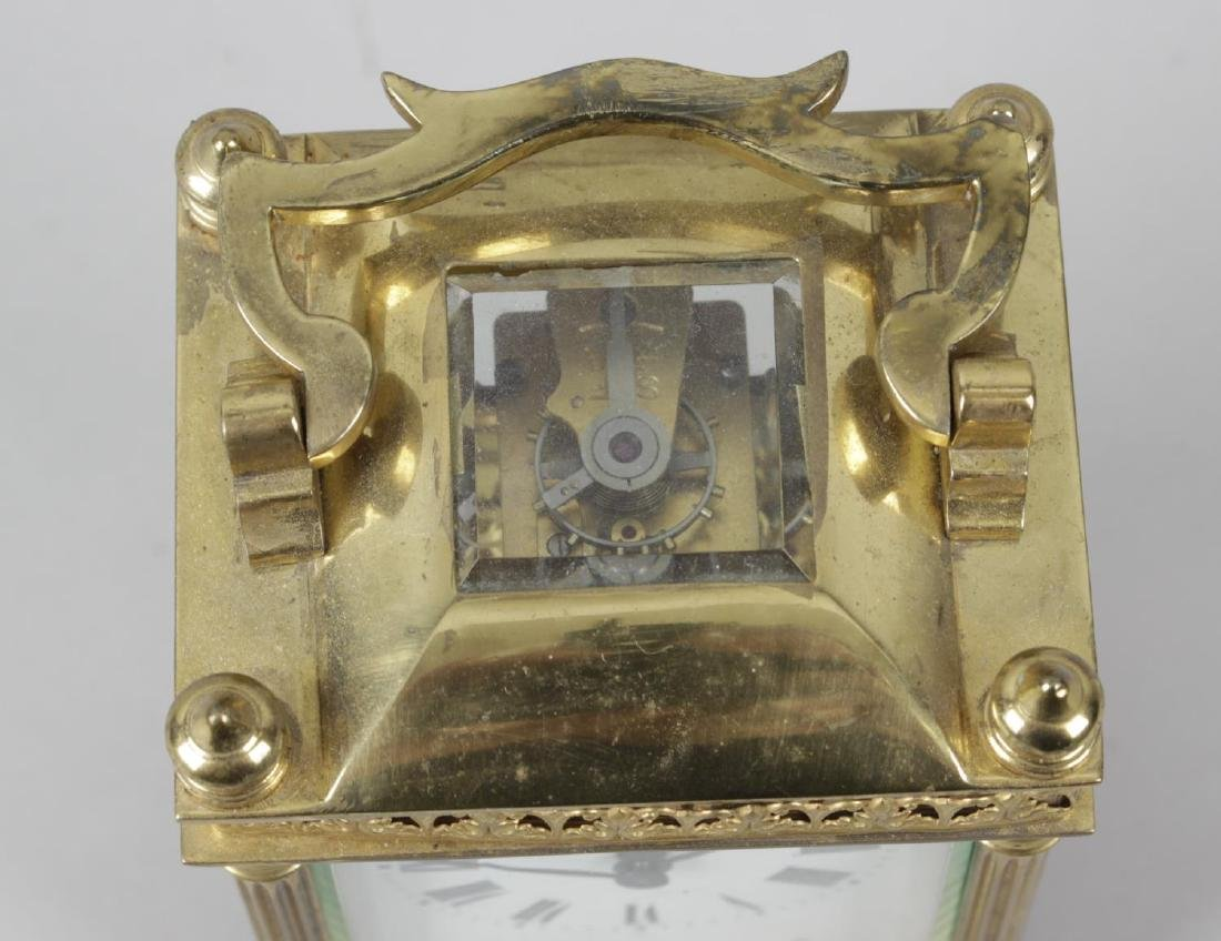 An early 20th century gilt metal cased carriage clock, - 5