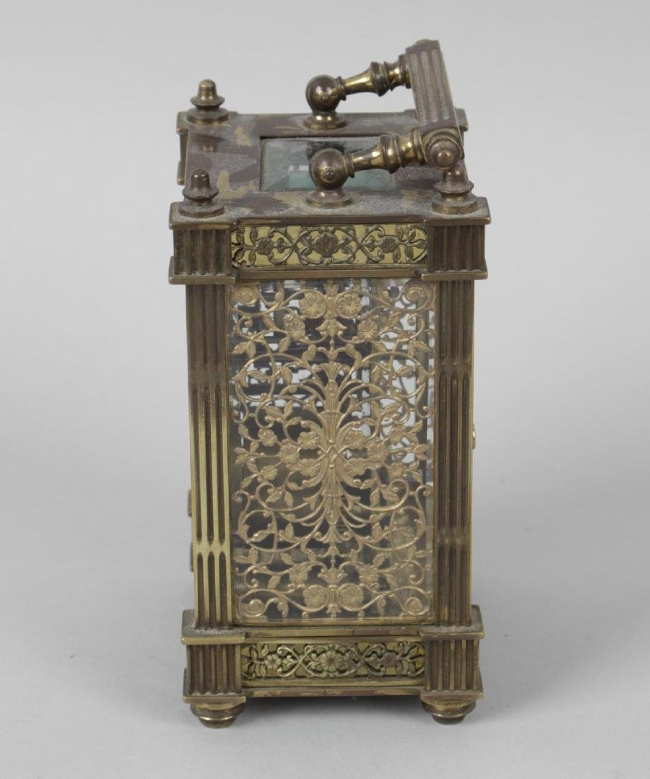 An early 20th century gilt metal cased carriage clock, - 2