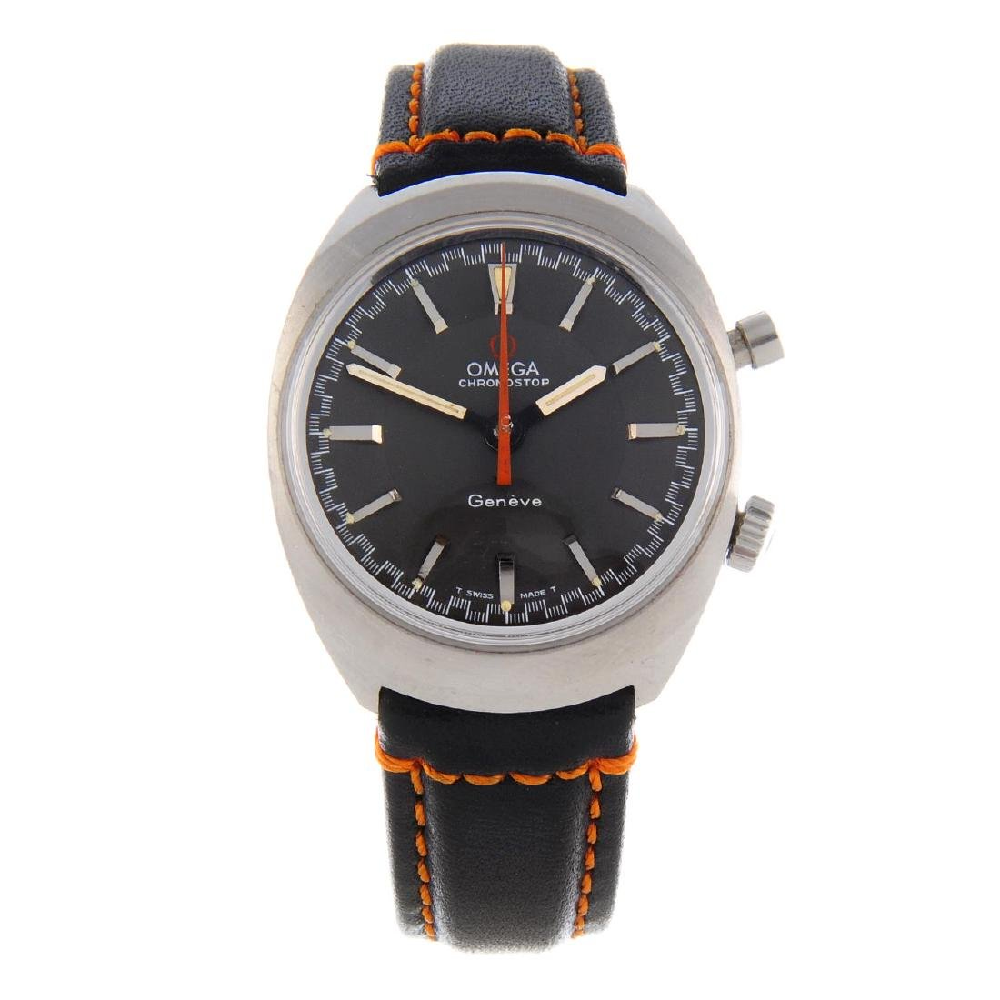 OMEGA - a gentleman's Chronostop wrist watch. Stainless