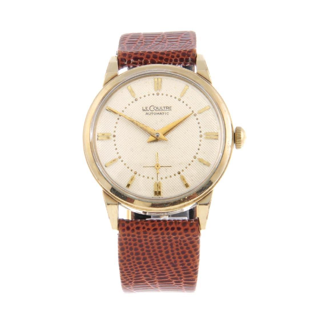LECOULTRE - a gentleman's wrist watch. Gold filled