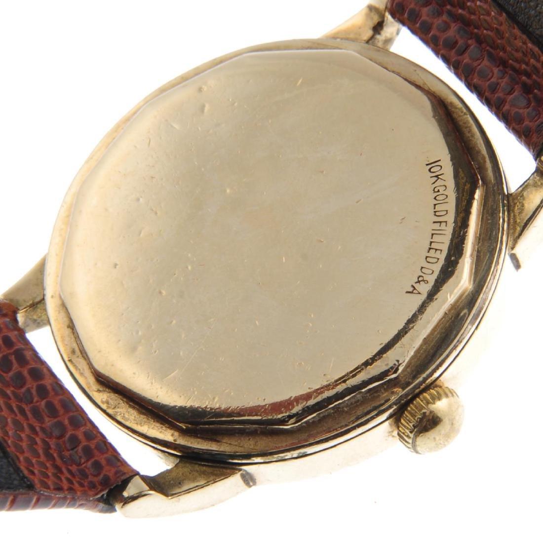 LECOULTRE - a gentleman's wrist watch. Gold filled - 4