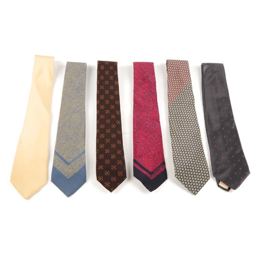 BALENCIAGA - six ties. To include a dark grey silk tie - 2