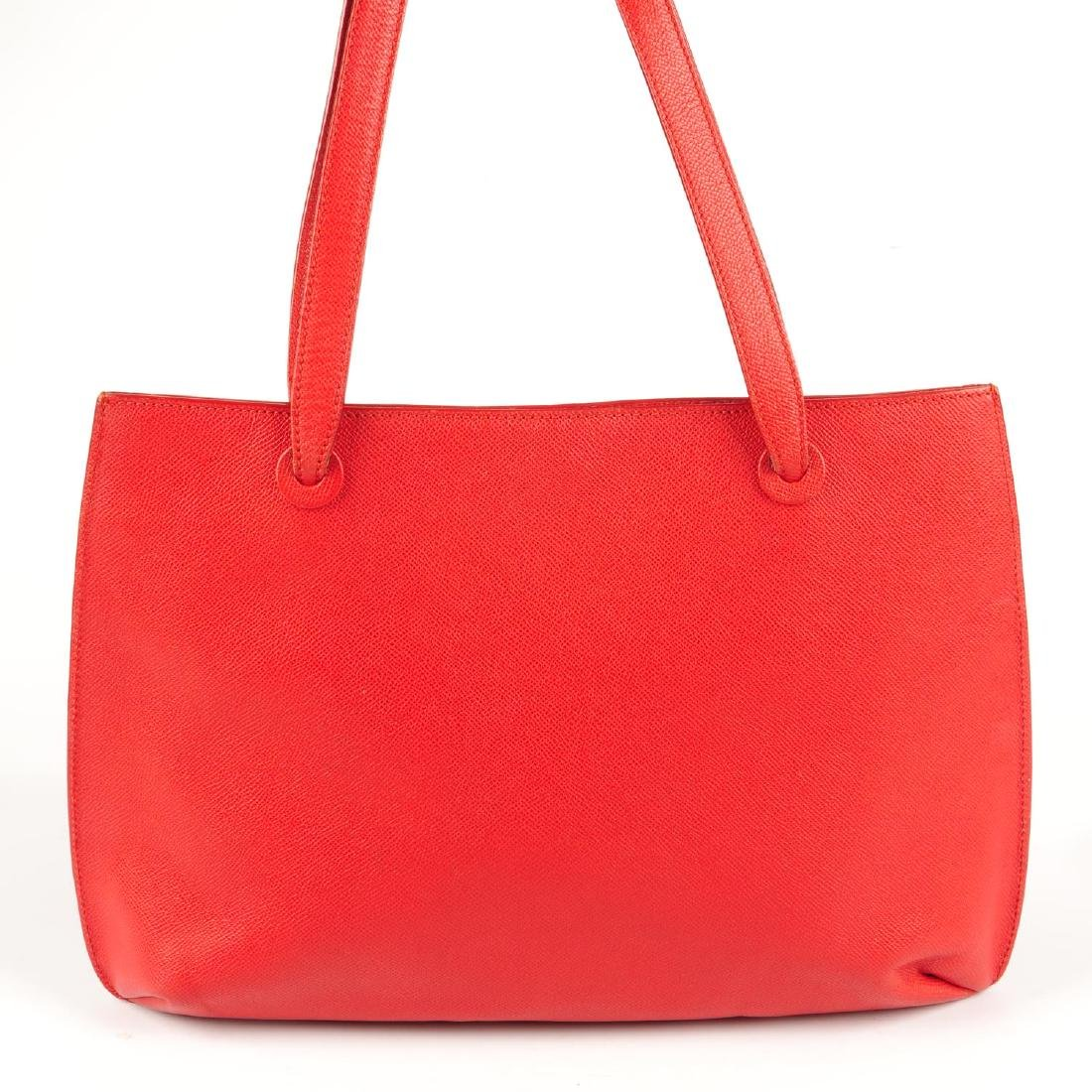 CHANEL - a vintage red leather handbag. Designed with a - 2
