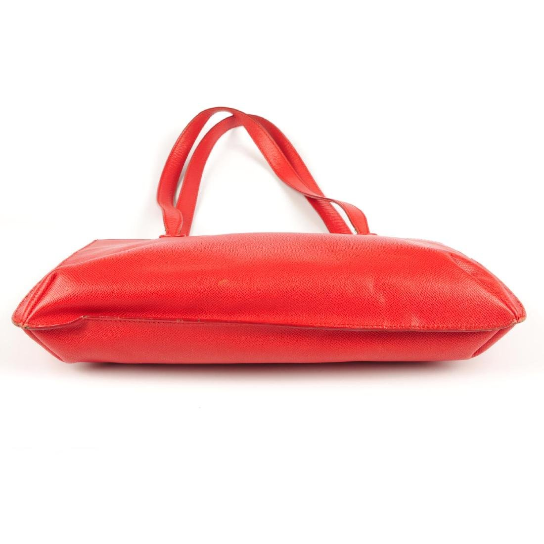 CHANEL - a vintage red leather handbag. Designed with a - 3