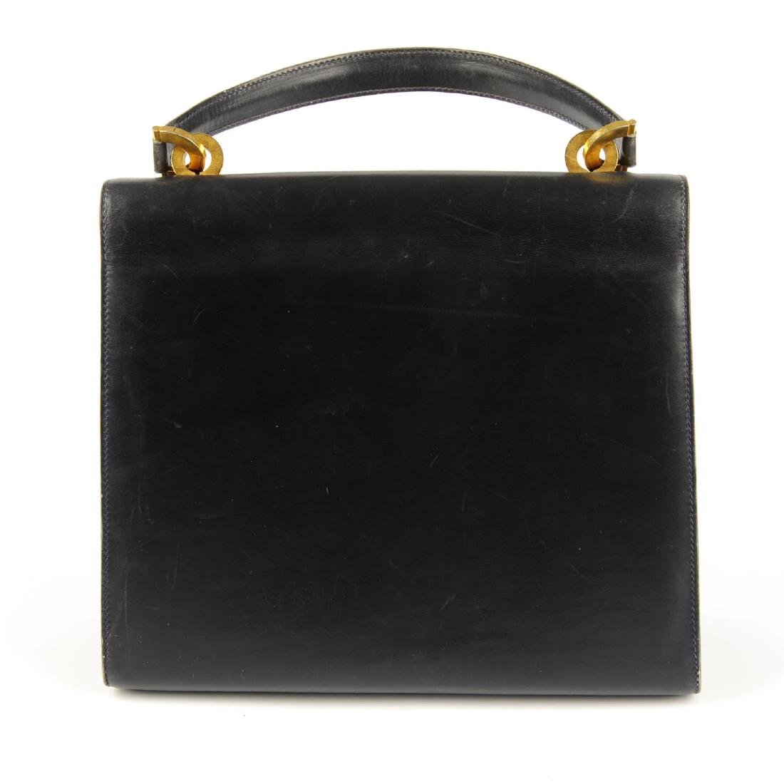 GUCCI - a vintage leather box handbag. Designed with a - 2