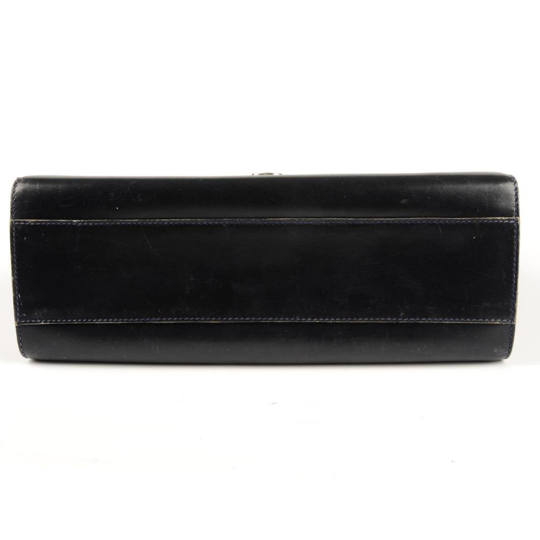 GUCCI - a vintage leather box handbag. Designed with a - 4