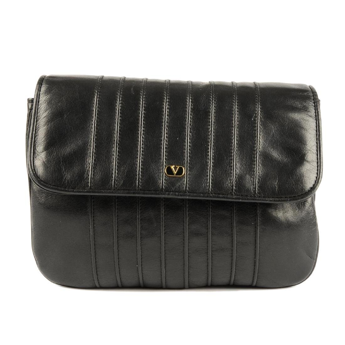 VALENTINO - a vintage leather crossbody handbag.