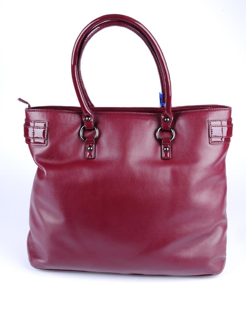 VERSACE JEANS - a burgundy handbag. Crafted from soft - 2