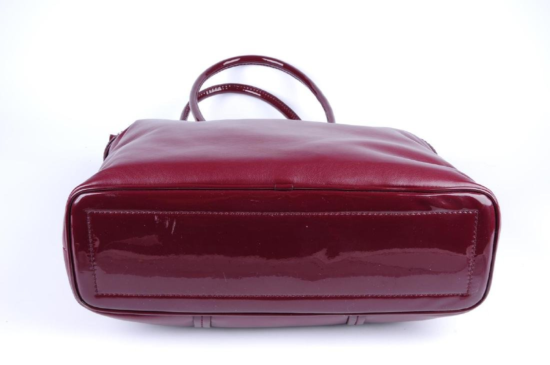 VERSACE JEANS - a burgundy handbag. Crafted from soft - 3