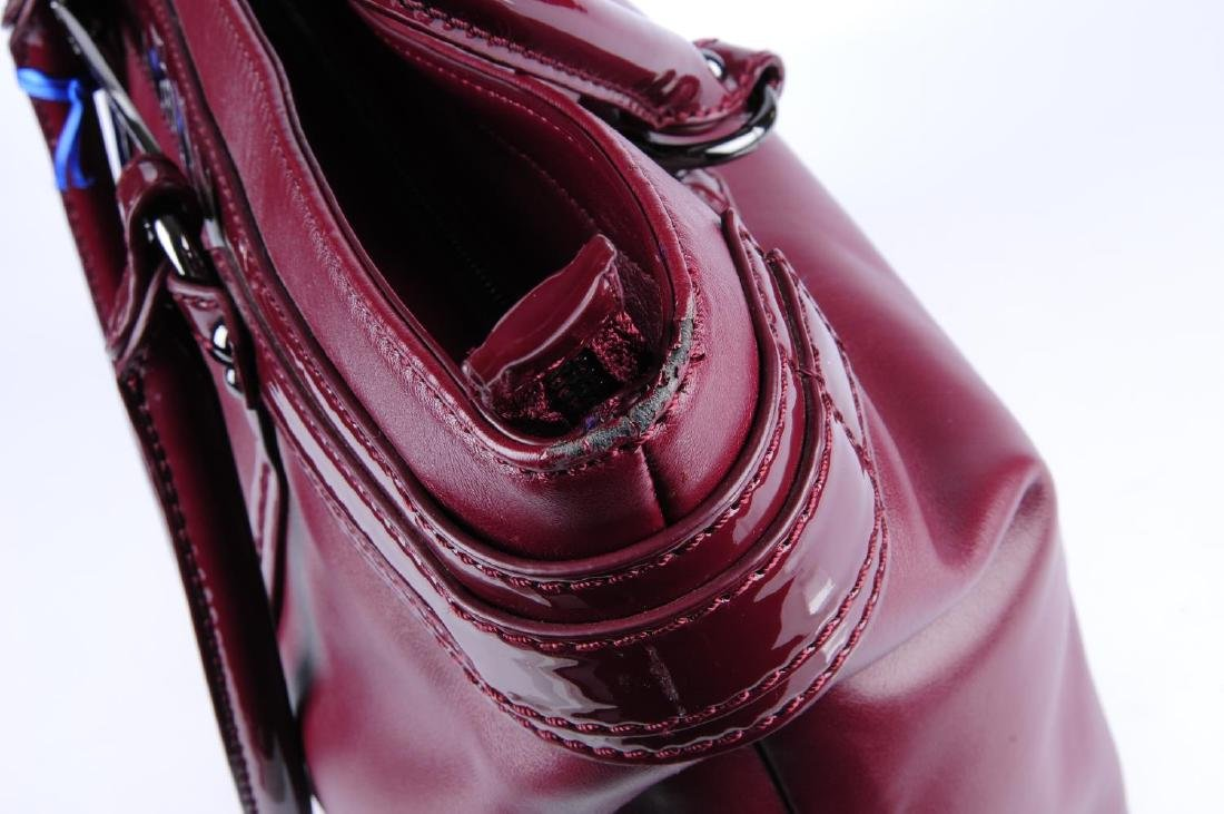 VERSACE JEANS - a burgundy handbag. Crafted from soft - 4