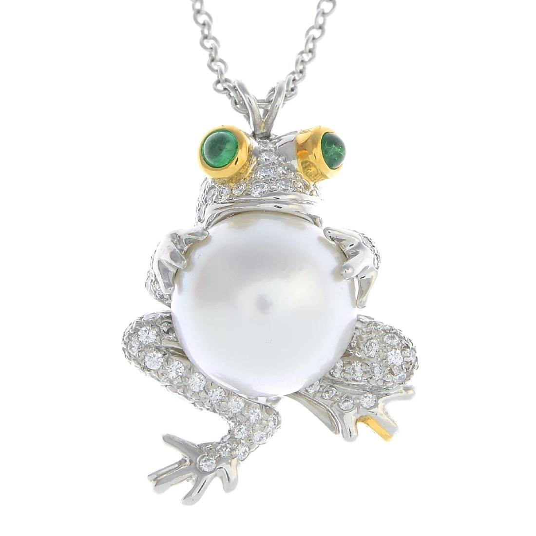 TIFFANY & CO. - a diamond and gem-set pendant. Designed