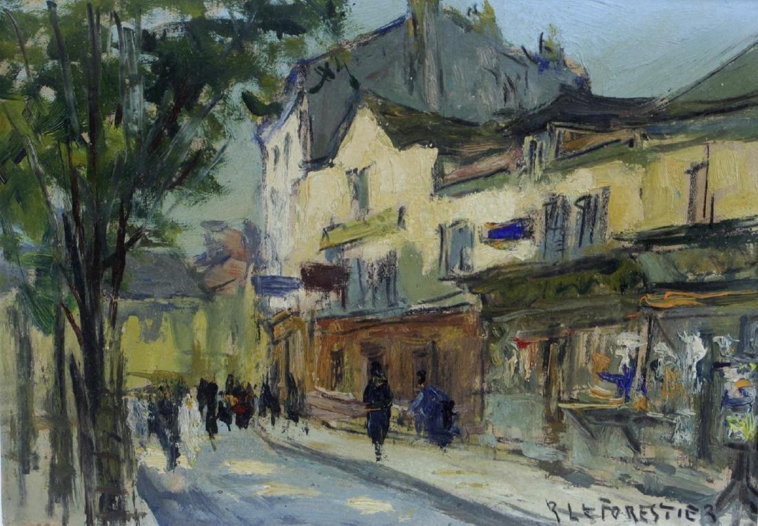 Rene Le Forestier (1903-1972), oil on board, Place Du