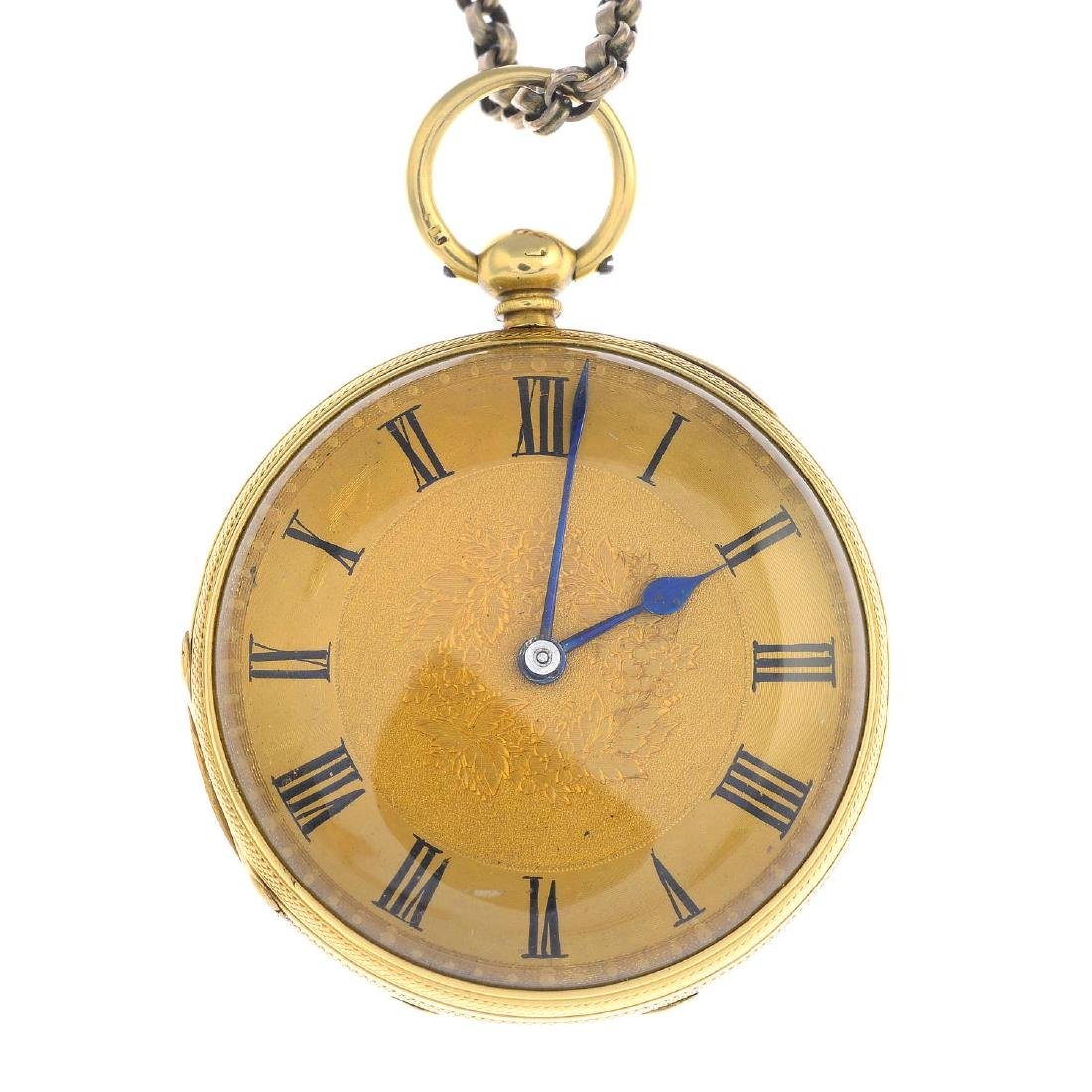 An early 20th century 18ct gold pocket watch. The