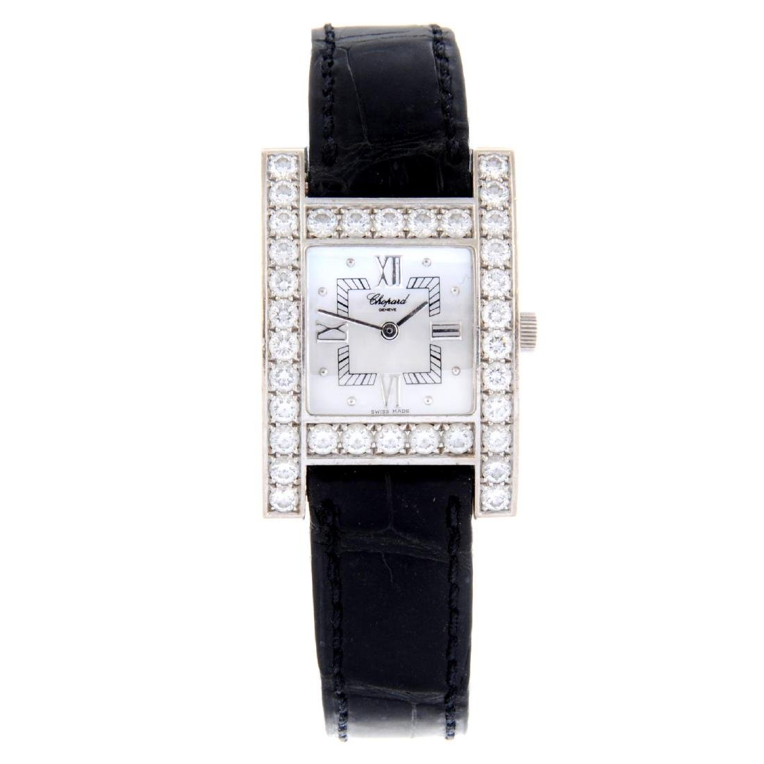 CHOPARD - a lady's Your Hour wrist watch. 18ct white