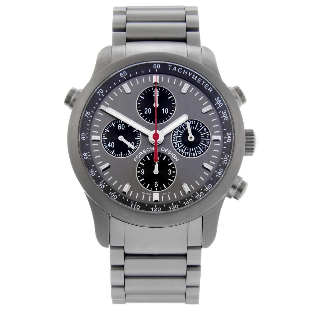 PORSCHE DESIGN - a gentleman's PTR chronograph bracelet