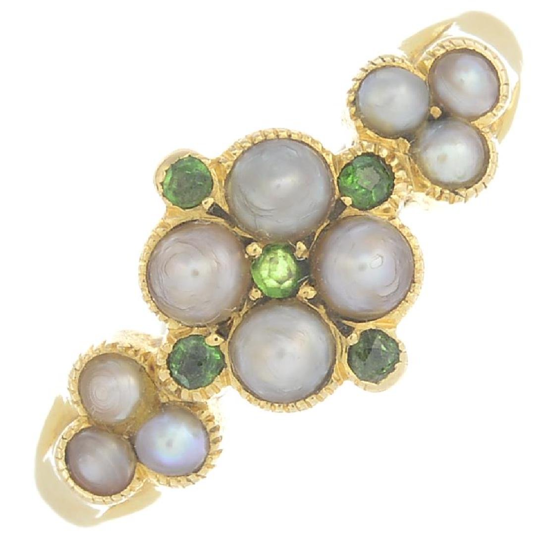 An early 20th century 18ct gold split pearl and