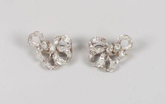 1018: A pair of Victorian old cut diamond set