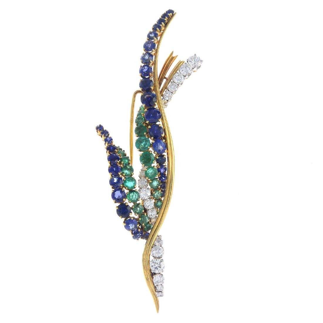 VAN CLEEF & ARPELS - a mid 20th century 18ct gold