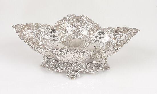 2002: A Victorian silver dish of diamond form