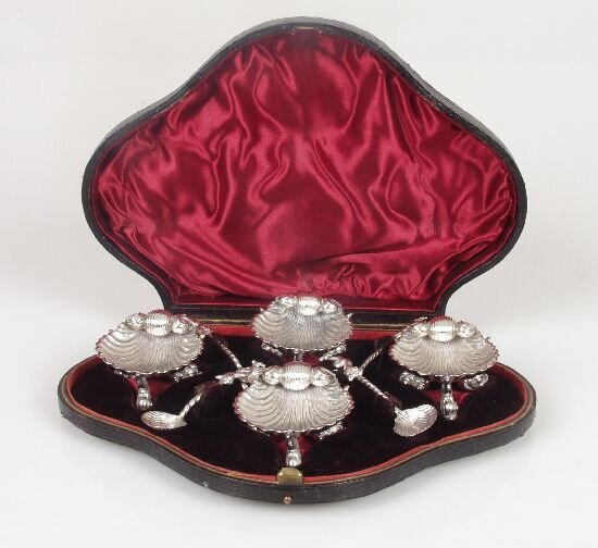 2003: A set of four unusual Victorian salts a